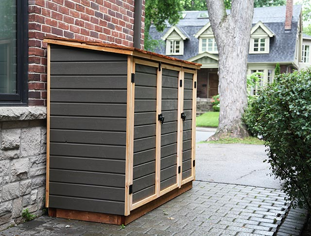 Charmant Redwood Sheds | Beautiful Storage Sheds For Garbage Bins, Recycling Bins  And Green Bins