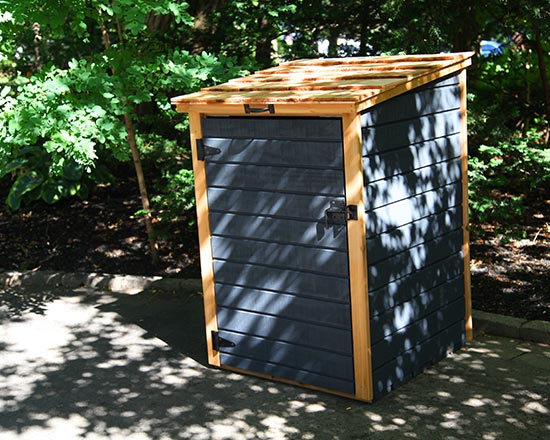 Superior Shed For Single Garbage Bin Or Recycling Bin