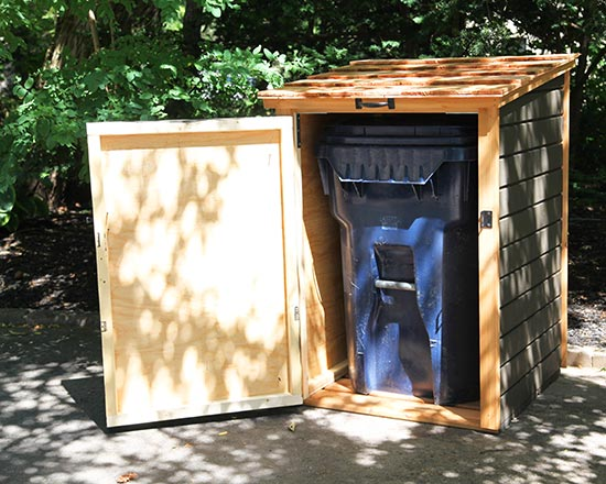 Compact Storage Shed For Garbage Bins Amp Recycling Bins