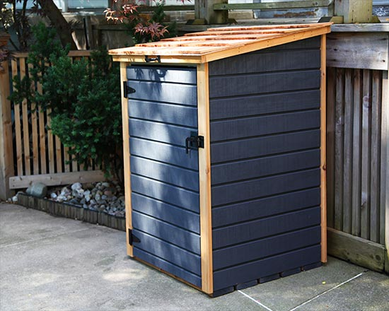 Shed for single garbage bin or recycling bin & Compact Storage Shed for Garbage Bins u0026 Recycling Bins | Redwood Sheds